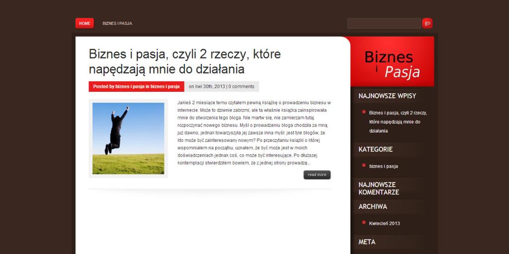 własny blog na własnej domenie wordpress