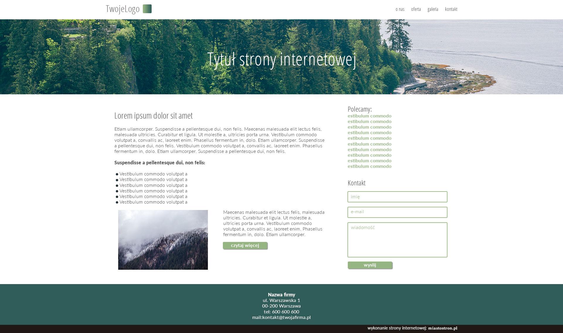 gotowe projekty stron www